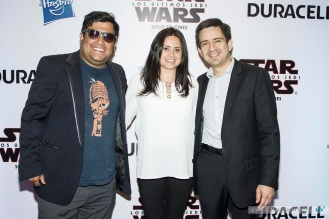 Nacho Pop junto a Karen Gross y Alejandro Toro de Duracell